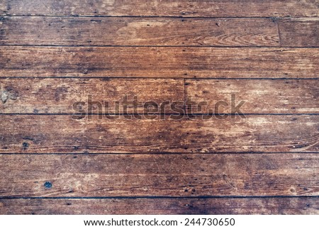 Vintage wooden floor detail background with filtered effect