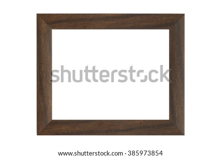 Vintage wooden frame isolated on white with clipping path - stock photo