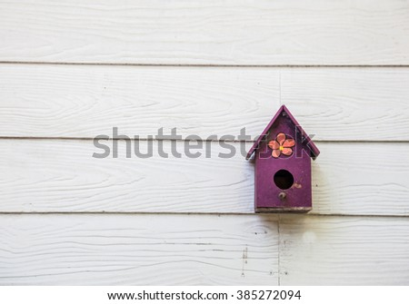 Vintage wooden mail box - stock photo
