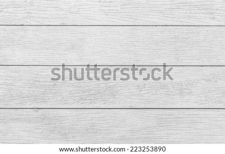 Vintage wooden planks floor background, close up, black and white - stock photo