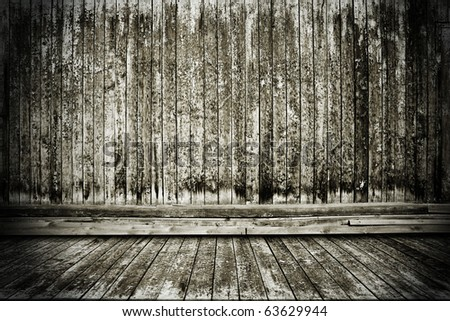 vintage wooden room - stock photo