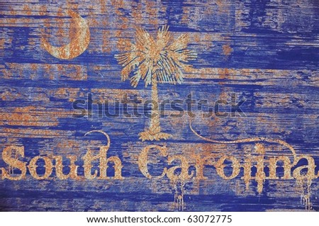 Vintage / wooden South Carolina Flag concept