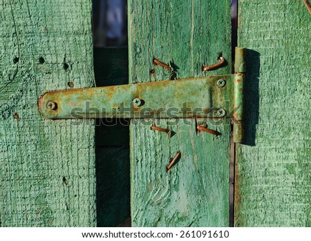 Vintage wooden texture background green close up - stock photo