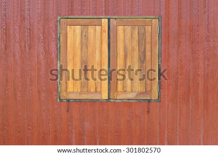 Vintage Wooden Wall and Window Background Texture