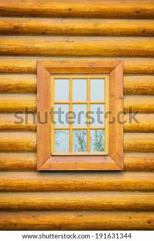 Vintage wooden window  - stock photo