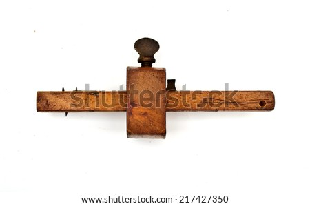 vintage woodworking tool - stock photo