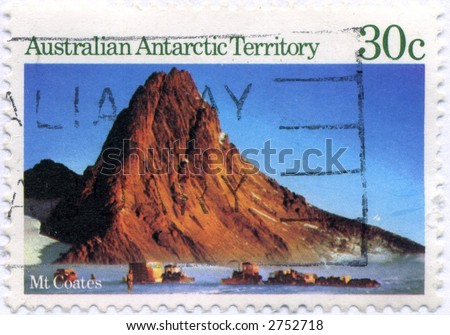 Vintage World Postage Stamp Ephemera australia (editorial) - stock photo
