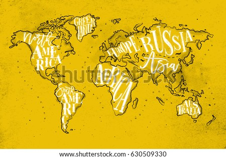 Vintage worldmap inscription greenland north south stock vintage worldmap inscription greenland north south stock illustration 630509330 shutterstock gumiabroncs Image collections
