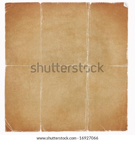 vintage worn paper - stock photo