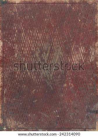 vintage worn red leather luxury book cover background - stock photo