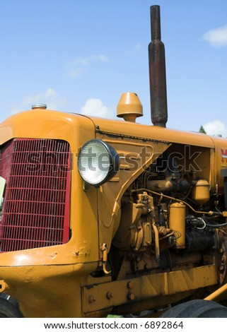 Vintage Yellow Tractor