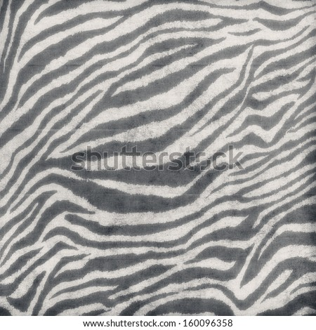 Vintage zebra skin pattern on paper - stock photo