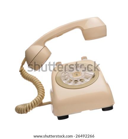 Vintange phone ringing - stock photo