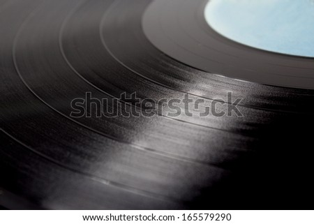 Vinyl disc isolated on white background