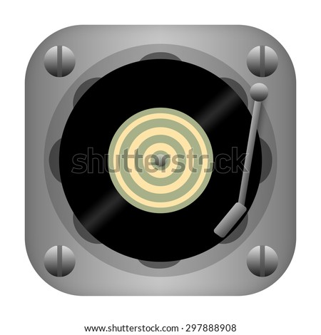 Vinyl disc player - stock photo