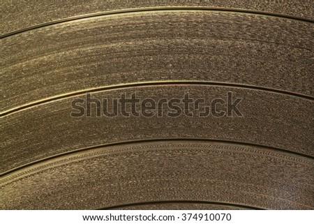 vinyl gramophone record disk closeup - stock photo