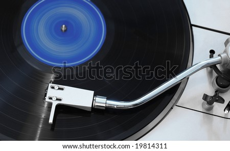 Vinyl player - stock photo