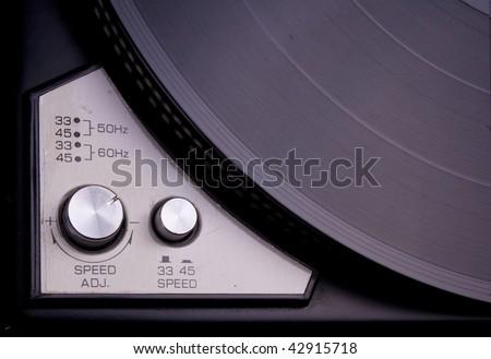 Vinyl Player Controls - stock photo