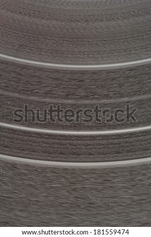 vinyl record - close up picture about tracks - stock photo