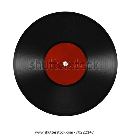 vinyl record. isolated on white background - stock photo