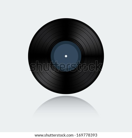 Vinyl record isolated on white background (raster illustration)