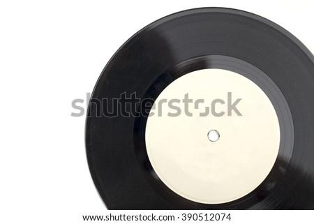 vinyl record on the white background - stock photo