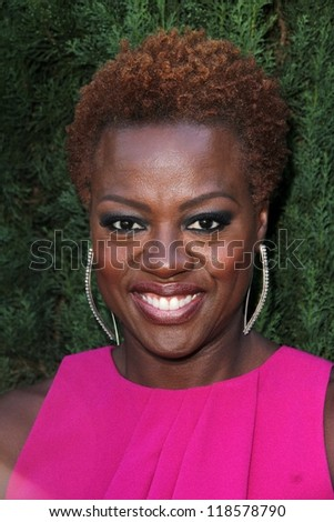 Viola Davis at the Rape Treatment Center Fundraiser hosted by Viola Davis and honoring Norman Lear, Greenacres, Neberly Hills, CA 10-14-12 - stock photo