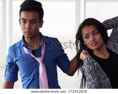 Violence against woman   - stock photo