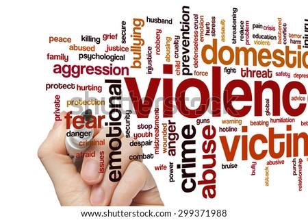 Violence concept word cloud background - stock photo