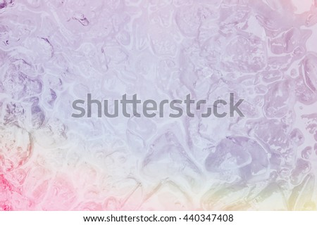 violet and purple color of ice texture and water surface abstract background.