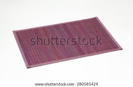 Violet bamboo mat - stock photo
