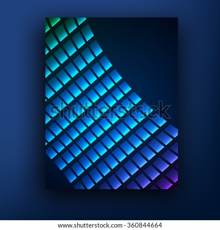 violet blue perspective grid brochure  booklet cover design templates collection