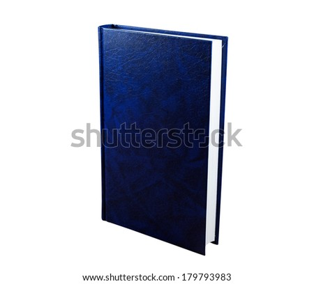 Violet book isolated on the white background