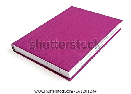 Violet book on a white background