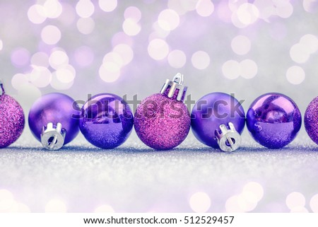 Violet Christmas decoration.