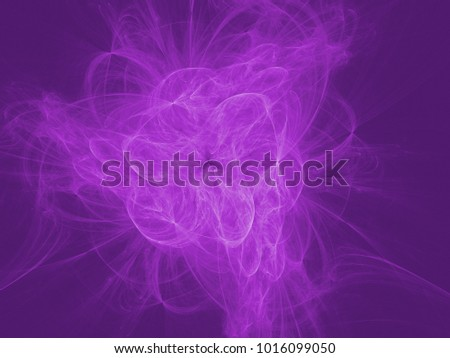 Violet color toned monochrome abstract fractal illustration. Design element for book covers, presentations layouts, title and page backgrounds.Raster clip art.