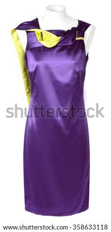 violet dress isolated on white