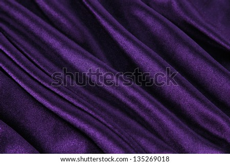 violet fabric wave - stock photo