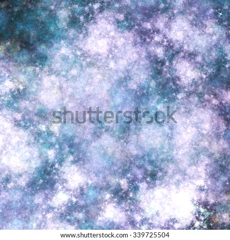 Violet fractal clouds, digital artwork for creative graphic design