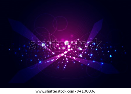 Violet Galaxy.Abstract background