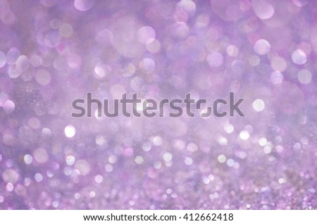 Violet Glow glitter background. Elegant abstract background with bokeh  - stock photo