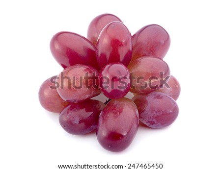 Violet grape fruit isolated on white - stock photo