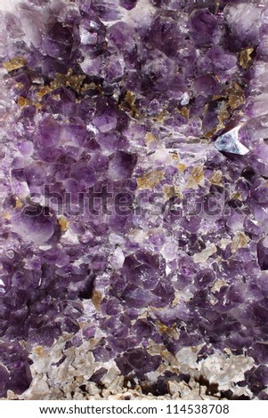 Violet natural amethyst crystal geode (texture, pattern) - stock photo