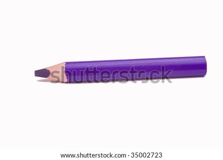 Violet pencil - stock photo
