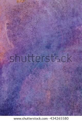 violet-purple watercolor background - stock photo