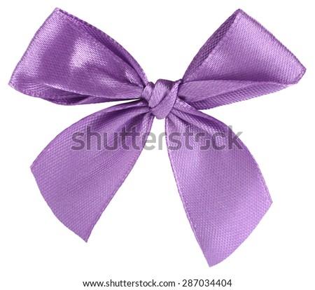 Violet ribbon bow tie - stock photo