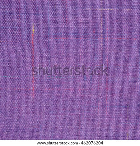 Violet Vintage Tweed Wool Fabric Background Texture Pattern, Large Detailed Horizontal Textured Macro Closeup, Purple, Yellow, Blue, Red, Green Stripe Mixture Detail, Rough Casual Style Textile