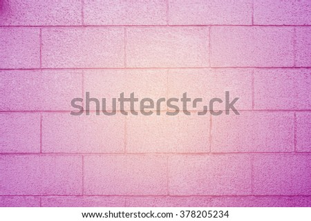 Violet wall brick background - stock photo