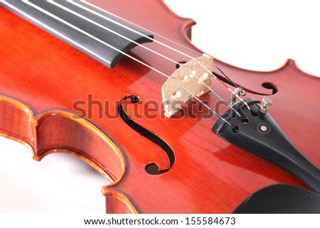 Violin a classical music instrument