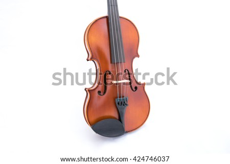 violin isolate on white with copy space for your design